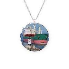 Salt water vessel Chestnut Necklace