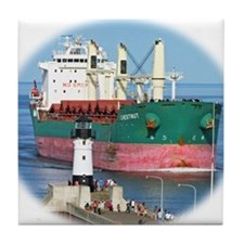 Salt water vessel Chestnut Tile Coaster