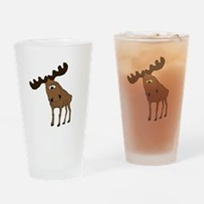 Cute moose Pint Glass