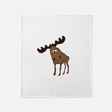 Cute moose Throw Blanket