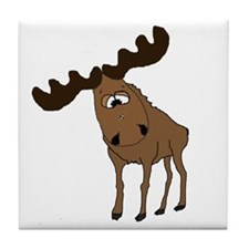 Cute moose Tile Coaster