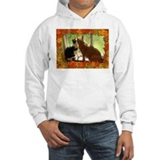 Autumn Cats/Orange Tabby Hoodie