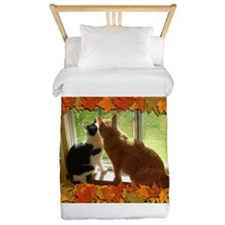 Autumn Cats/Orange Tabby Twin Duvet