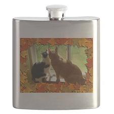 Autumn Cats/Orange Tabby Flask