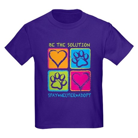 Be The Solution Squares Kids Dark T-Shirt