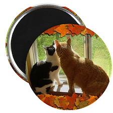 Autumn Cats/Orange Tabby Magnet