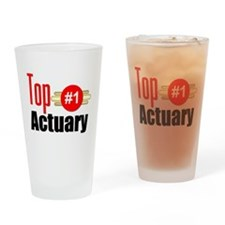 Top Actuary Drinking Glass