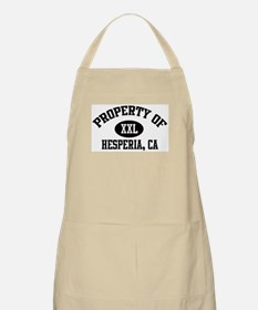 Property of HESPERIA BBQ Apron