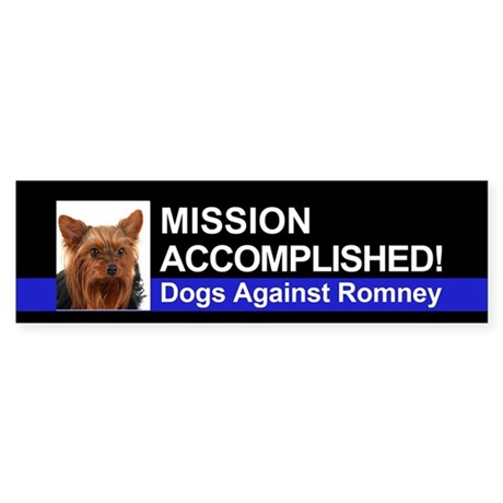 Mission Accomplished sticker- Yorkie