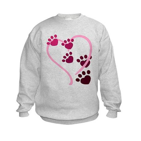 Dog Paws Kids Sweatshirt