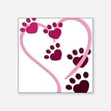 """Dog Paws Square Sticker 3"""" x 3"""""""