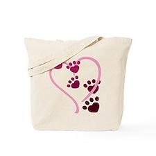 Dog Paws Tote Bag
