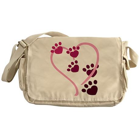 Dog Paws Messenger Bag