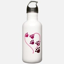 Dog Paws Sports Water Bottle