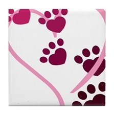 Dog Paws Tile Coaster