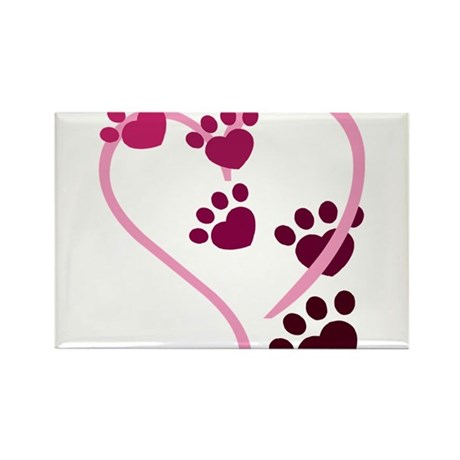 Dog Paws Rectangle Magnet