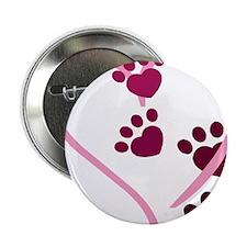 """Dog Paws 2.25"""" Button"""