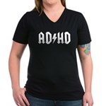 AD HD Women's V-Neck Dark T-Shirt