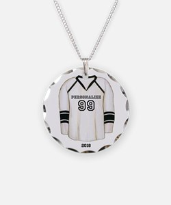 Hockey Jersey Necklace Circle Charm