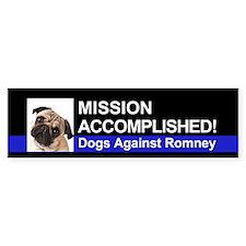 Mission Accomplished sticker - Pug