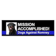 Mission Accomplished sticker - Rottie