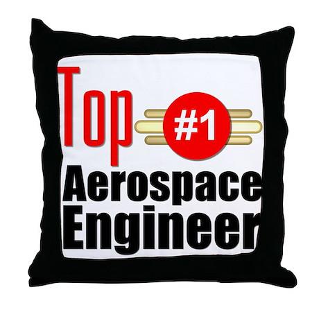 Top Aerospace Engineer Throw Pillow