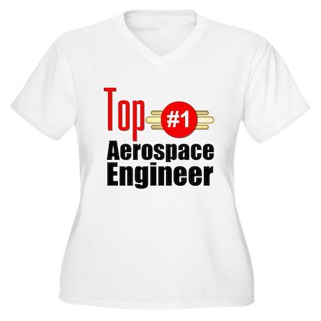 Top Aerospace Engineer Women's Plus Size V-Neck T-