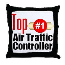 Top Air Traffic Controller Throw Pillow