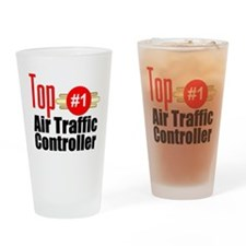 Top Air Traffic Controller Drinking Glass
