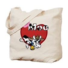 I Love Moo Tote Bag