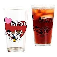 I Love Moo Drinking Glass