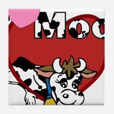I Love Moo Tile Coaster