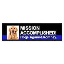 Mission Accomplished sticker - Golden