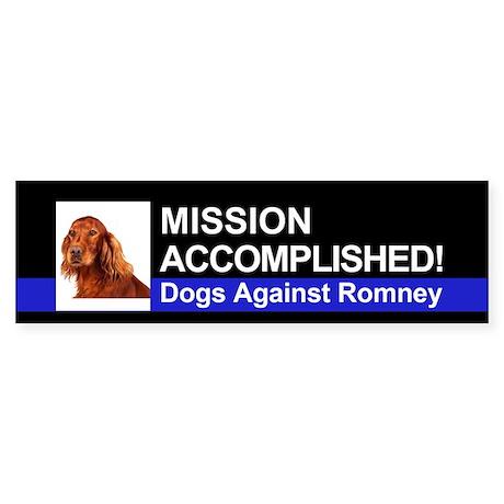Mission Accomplished sticker - Irish Setter
