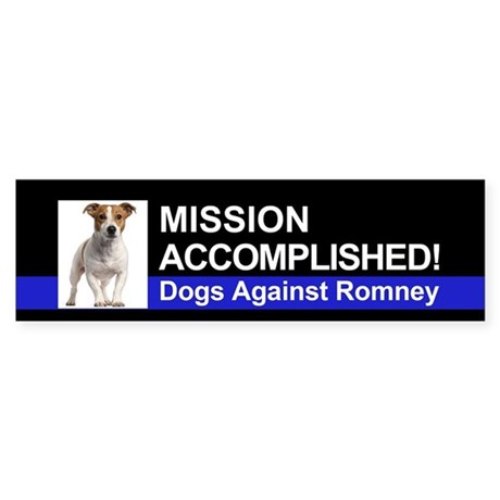 Mission Accomplished sticker - Jack Russell