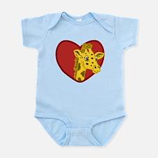 Giraffe Valentine Infant Bodysuit