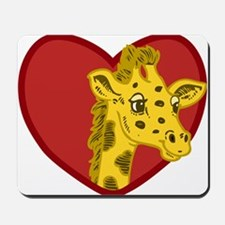 Giraffe Valentine Mousepad