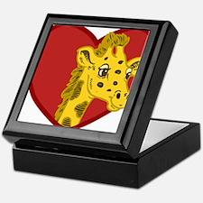Giraffe Valentine Keepsake Box