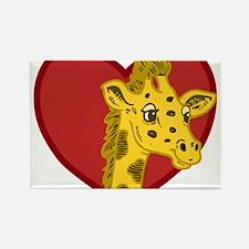 Giraffe Valentine Rectangle Magnet