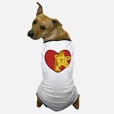 Giraffe Valentine Dog T-Shirt