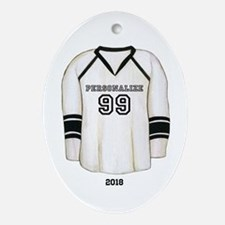 Hockey Jersey Ornament (Oval)