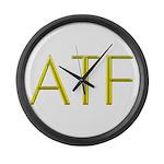 ATF logo Large Wall Clock
