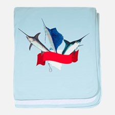 Marlin Fish baby blanket