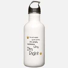 I'm right Water Bottle