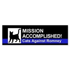 Mission Accomplished sticker - Cat Division