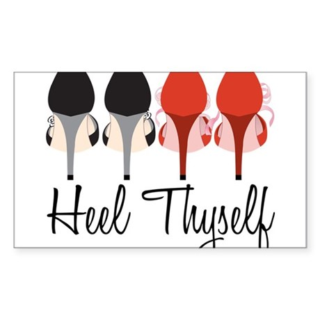 Heel Thyself Sticker (Rectangle)