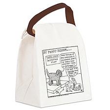 Puppy School - Destroying Things Canvas Lunch Bag