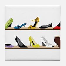 Heeled Shoe Stack Tile Coaster