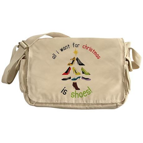Shoes for Christmas Messenger Bag