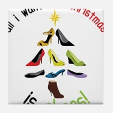 Shoes for Christmas Tile Coaster